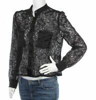 NEW Axara Paris Long Sleeve Lace Shirt/Top Size M