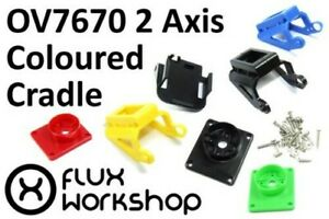 Coloured Pan Tilt Micro Servo Mount SG-90 92 FPV Pi Arduino Camera Flux Workshop
