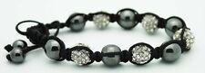 Beautiful Style Macrame Beaded Black and Silver Pearl Bracelet