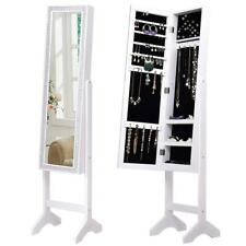 Mirrored Jewelry Cabinet Armoire Floor Stand Resin Diamond Makeup