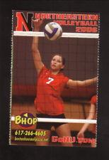 Northeastern Huskies--2006 Volleyball Pocket Schedule--Boston House of Pizza