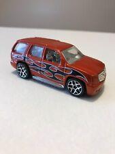 Hot Wheels 07 Cadillac escalade diecast Chrome Rare Interior Design Orange Red