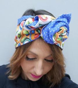 Fascia per capelli Donna Elastica Turbante modellabili double face