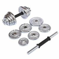Viper 20kg Cast Iron Adjustable Dumbbell Set - Hand Weight Lifting CHROME