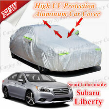 Premium Rain Waterproof Aluminum Car Cover Side Zip Entry Large Subaru Liberty