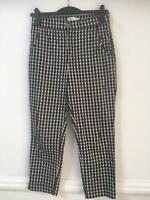 Hollister Black White Trousers Size Medium Womens (E935)