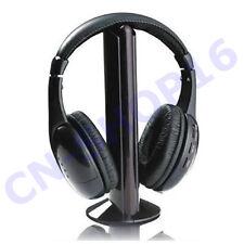 CUFFIE WIRELESS WIFI SENZA FILI 5IN1 CON MICROFONO RADIO PC TV CD
