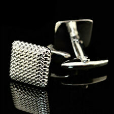 Silver Color Cuff Link Cufflinks.Us New Gentleman Men Wedding Party Gift