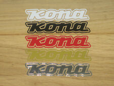 2 KONA MTB Stickers Printed Cycling Decals Frame Forks Wheel Helmet bike hub BMX