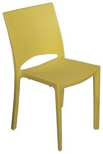 Cocco Stackable Indoor-Outdoor Poly Dining Chairs (2) - Made in Italy - Strong