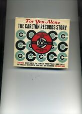FOR YOU ALONE - THE CARLTON RECORDS STORY - 1958 - 1962 - 3 CDS - NEW!!