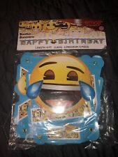 Happy Birthday Banner Emoji Six 6 Feet Party Smiley Face Kids Fun Party Supplies