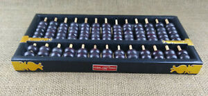 Vintage Wood & Brass Chinese Abacus