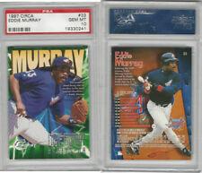 1997 Fleer Circa Baseball, #33 Eddie Murray HOF, Angels, PSA 10 Gem