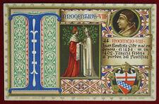 """PAPA INNOCENZO VIII POPE INNOCENTIUS VIII postcard illustrata NV """"900 f/p #16041"""