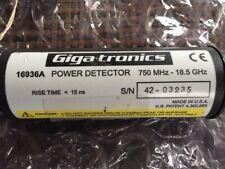 Giga-tronics / Wavetek 16936 Power Sensor, 750 MHz to 18.5 GHz, <15 ns Rise Time