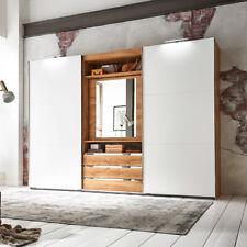 Schwebetürenschrank Magic Kleiderschrank Plankeneiche weiß mit Funktion 300 cm
