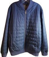 Brooks & Brothers Men's Thermore Insulated Quilted Navy Bomber Jacket! Size XL
