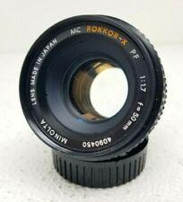 Minolta MC Rokkor-X PF 50mm F1:1.7 Prime Lens f=50mm with Front & Rear Caps