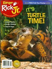 2014 Ranger Rick Jr. Magazine: Turtle Time/Animal Games/Hungry Rabbits/Ostrich