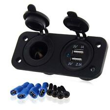 Dual USB Port 12V Universal In Car Cigar Charger Lighter Socket Adapter plug D.