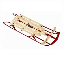 """Flexible Flyer 1048 Classic 48"""" Wooden Snow Sleds With Steel Runners"""