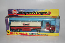 MATCHBOX SUPER KINGS K-16 FORD LTS ARTICULATED TANKER TRUCK, SCARCE YELLOW GRILL