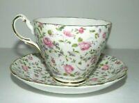 Vintage Grosvenor Jackson & Gosling Chintz Roses Tea Cup and Saucer teacup