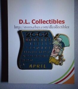 Disney Alice in Wonderland April Calendar - Mad Hatter Pin