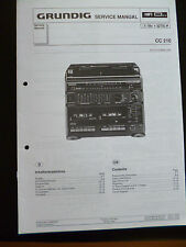 Original Service Manual  Grundig CC 210