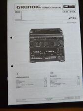 Original Service Manual  Grundig CC 210