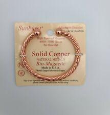 Sunburst Women's Solid Copper Natural Metal Bio-Magnetic Adjustable Bracelet