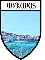 Tin Sign XXL City  Santorini Greece