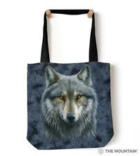 "The Mountain Warrior Wolf 18""x18"" Tote Bag Shopping Travel Beach Gym Bag"