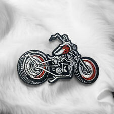 Embroidered Motorcycle Scooter Sew On Iron On Patch Badge Fabric Craft Transfer