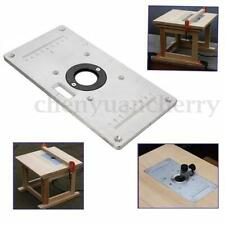 235*120*8mm Aluminum Router Table Insert Plate w/ 4 Insert Rings DIY Woodworking