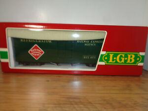 LGB G GAUGE # 4071 RAILWAY EXPRESS AGENCY REFRIGERATOR CAR, BOX & SLEEVE