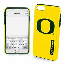 For iPhone 7 Oregon Ducks Dual Hybrid 2 Piece Protective Case Yellow NCAA