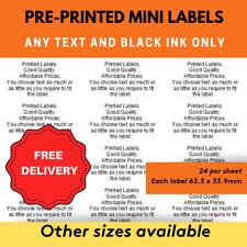 240 Personalised Self Adhesive Pre Printed Address Labels