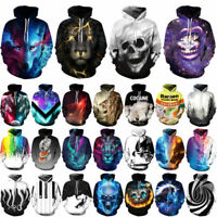 Women's Sweater Pullover Print Jacket Tops Coat Men Hoodie Graphic 3D Sweatshirt