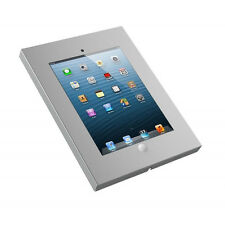 SILVER Anti Theft Secure Enclosure Case Wall Mount Cabinet Apple iPad 2 3 4 Air