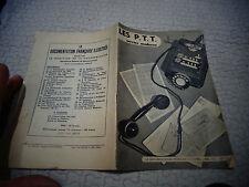 Ancien livret LES P.T.T Service Moderne 1951 La Poste Centre de tri Telex