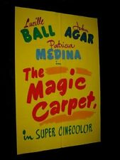 Original LUCILLE BALL John Agar MAGIC CARPET 1 of A Kind Hand Painted