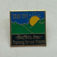 Buffets Inc. Team 2000 Training For Our Future Employee Badge Lapel Hat Pin   S5