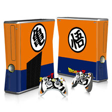 XBOX 360 Slim Skin Sticker Decal Cover + 2 Controllers Anime DRAGON BALL Z