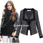 Women's Light Tweed Ladies Jacket Work Office Fit Size 8 10 12 14 16 (jk37)