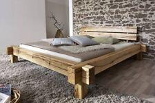 Bett Doppelbett Holzbett Schlafzimmer Balkenbett Balkenmöbel Eiche 180x200x85