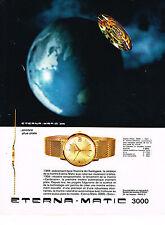 PUBLICITE ADVERTISING  1964  ETERNA-MATIC 3000 montre