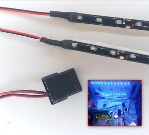 BLUE MODDING PC CASE LIGHT LED KIT (TWIN 15CM STRIPS) MOLEX 60CM TAILS