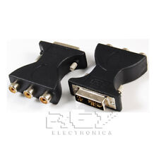 Adaptador DVI-A (12+5) Macho a 3 RCA Hembra, Señal Digital v234